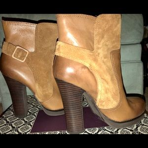 Jessica Simpson Camel color leather upper boot
